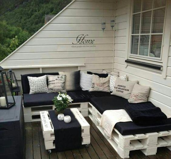 30 Diseños de muebles de palets para tu jardín 21
