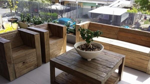 30 Diseños de muebles de palets para tu jardín 22