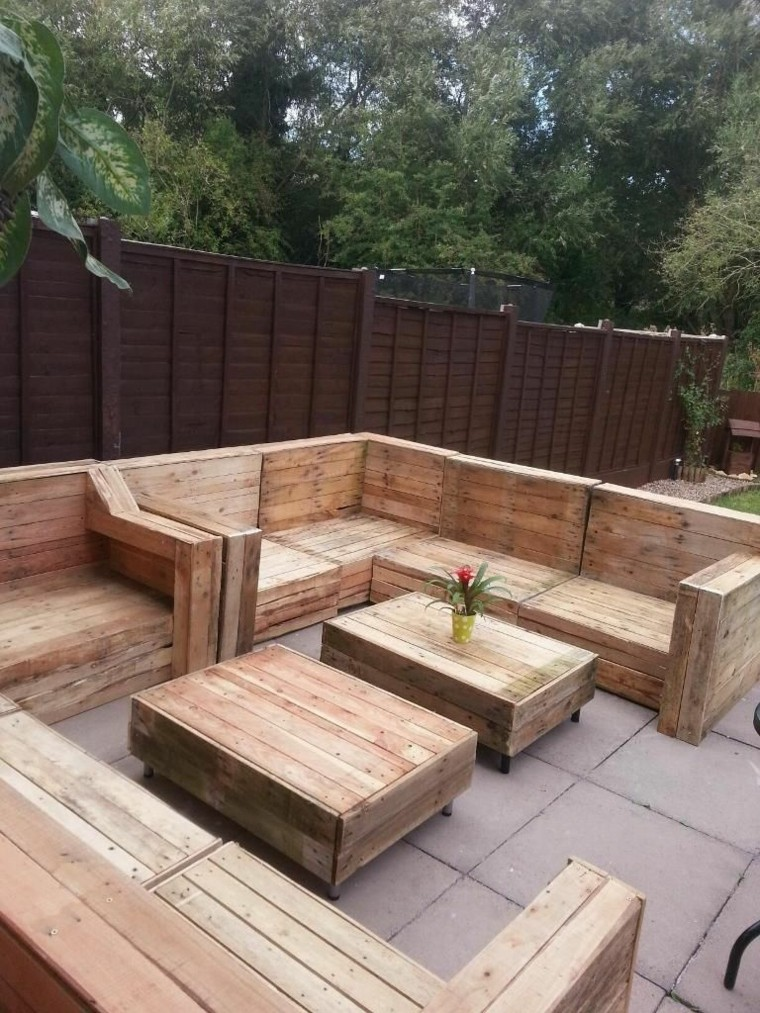 30 Diseños de muebles de palets para tu jardín 23