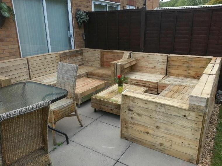 30 Diseños de muebles de palets para tu jardín 24