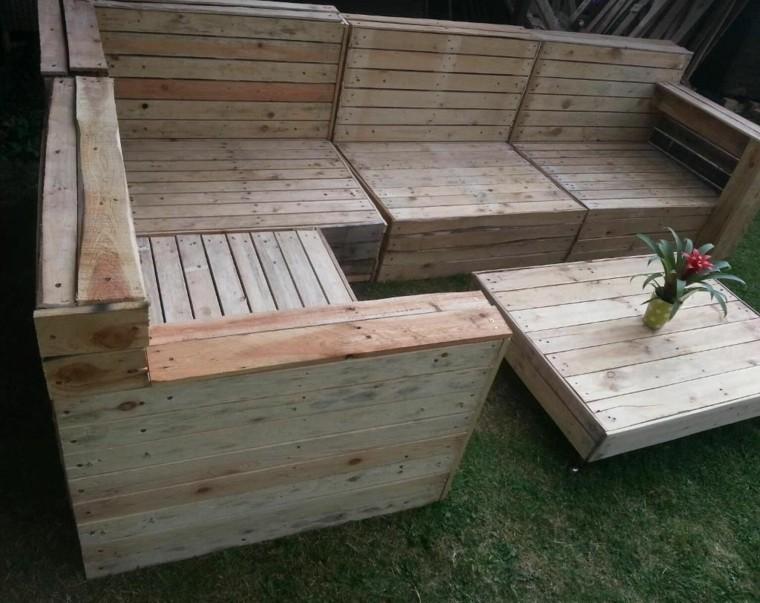 30 Diseños de muebles de palets para tu jardín 25
