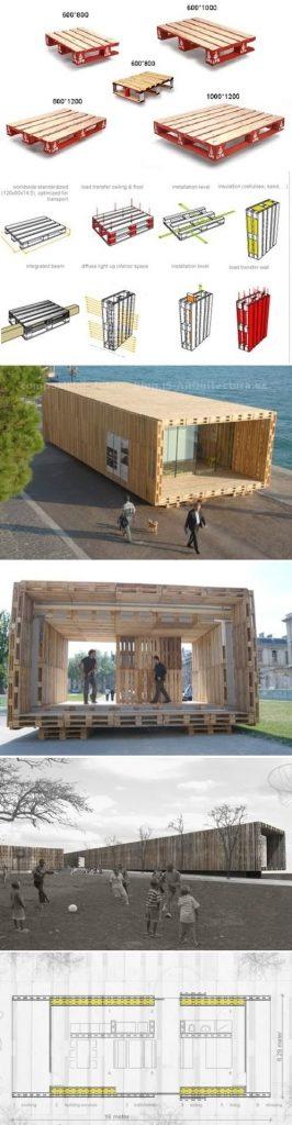 Geniales ideas para hacer Casas de Palets 6
