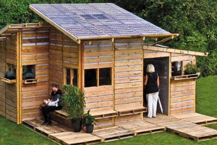 Geniales ideas para hacer Casas de Palets 2
