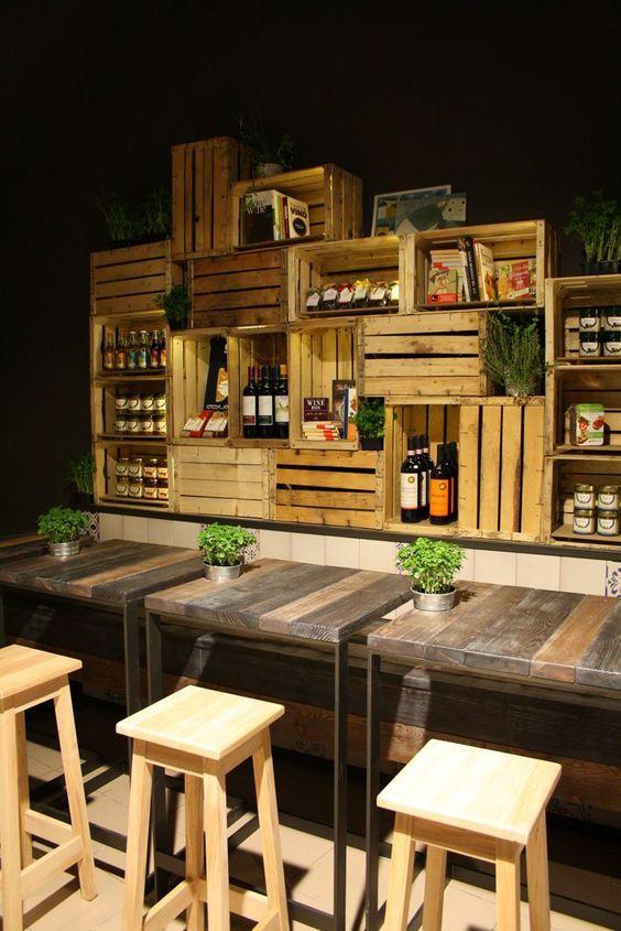Geniales ideas para hacer casas de palets ideas creativas - Como decorar un bar pequeno ...