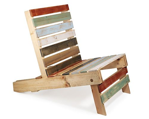 30 ideas de sillones y sof s de palets muy originales - Sillas con palets ...