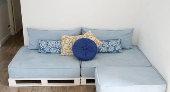 Sofá de palets - ¿Cómo hacerlo? Videos y Ofertas 52