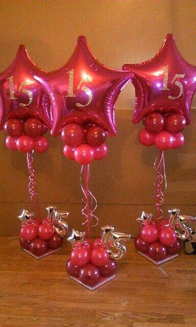 Centros de mesa con globos, económicos y elegantes 19