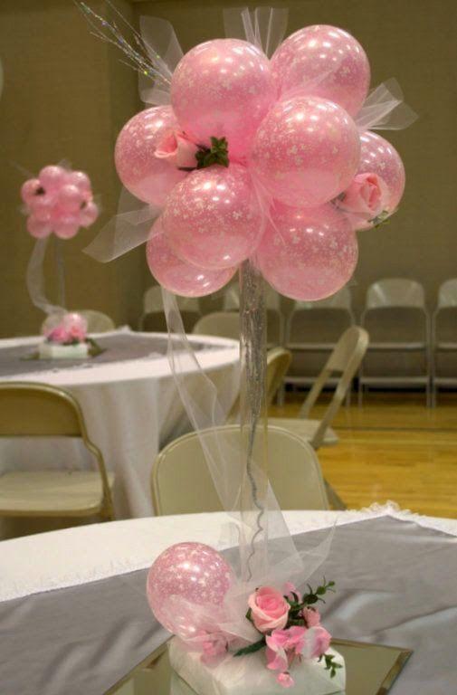 Centros de mesa con globos, económicos y elegantes 20