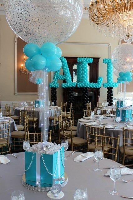 Centros de mesa con globos,  económicos y elegantes 24