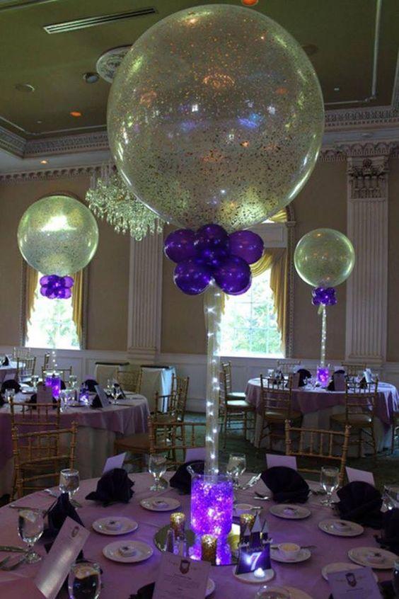 Centros de mesa con globos,  económicos y elegantes 2