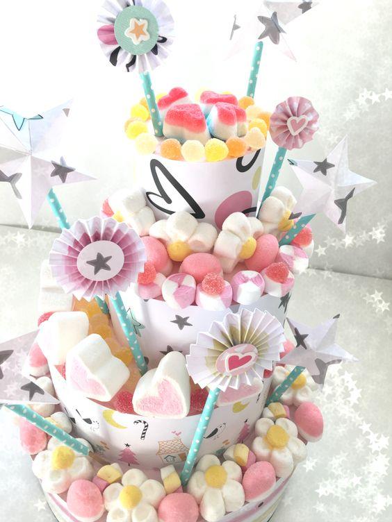 Excelentes ideas de centros de mesa con dulces 23