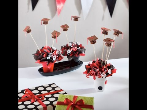 Excelentes ideas de centros de mesa con dulces 19