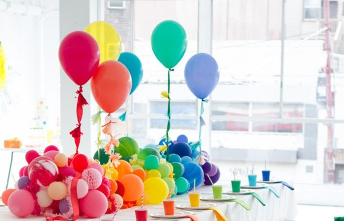 Centros de mesa con globos,  económicos y elegantes 36
