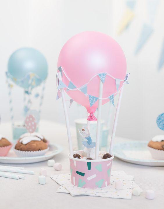 Centros de mesa con globos, económicos y elegantes 14