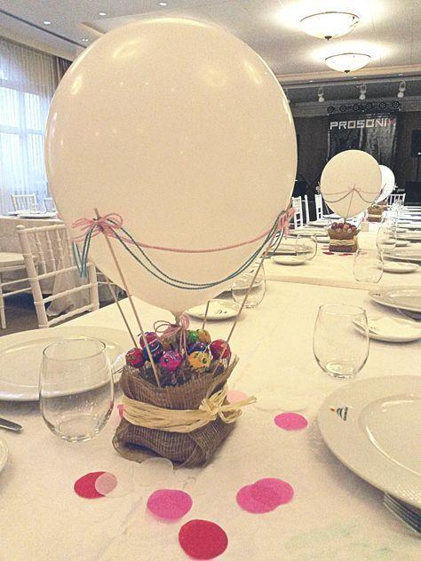 Centros de mesa con globos,  económicos y elegantes 15