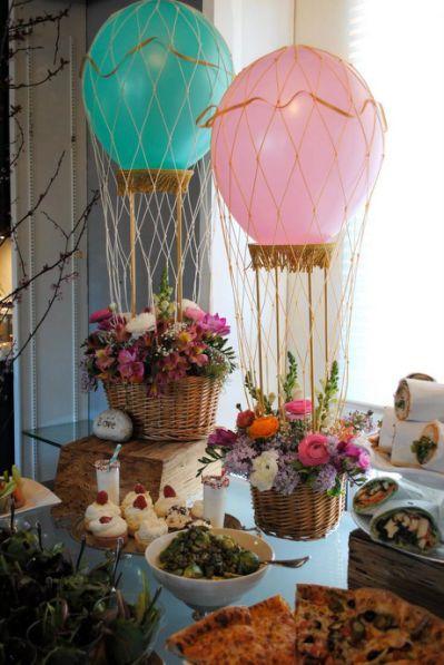 Centros de mesa con globos,  económicos y elegantes 16