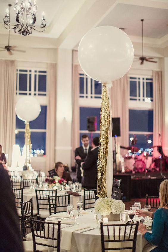 Centros de mesa con globos,  económicos y elegantes 8