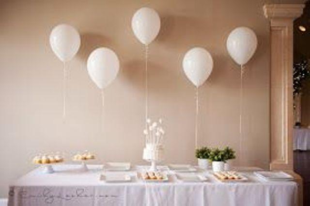 Centros de mesa con globos,  económicos y elegantes 9