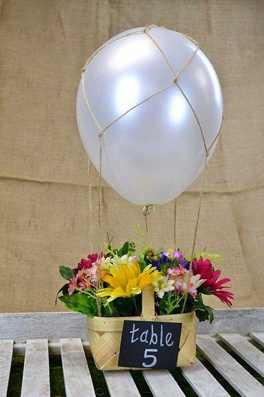 Centros de mesa con globos,  económicos y elegantes 4