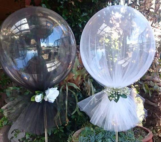 Centros de mesa con globos,  económicos y elegantes 6