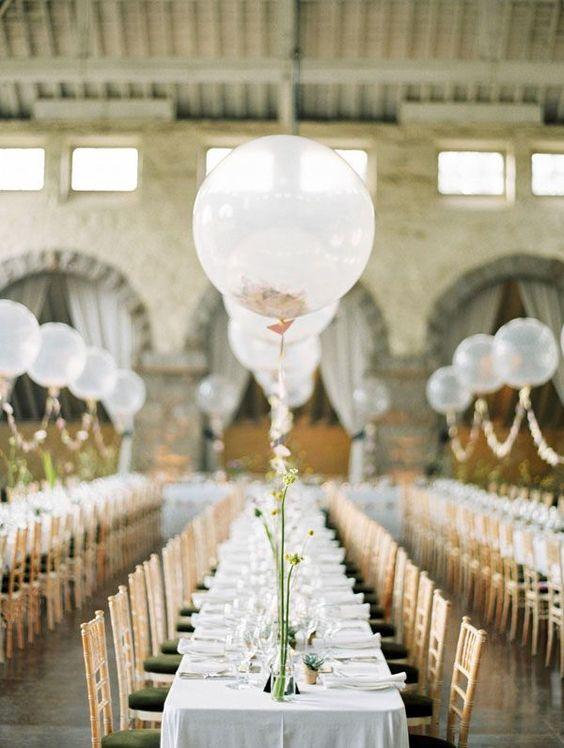 Centros de mesa con globos,  económicos y elegantes 7