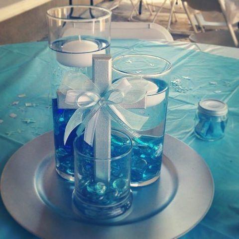 34 Centros de mesa con frascos para embellecer  tu fiesta 26