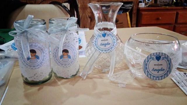 34 Centros de mesa con frascos para embellecer  tu fiesta 28