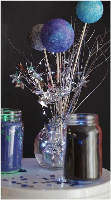 34 Centros de mesa con frascos para embellecer  tu fiesta 3