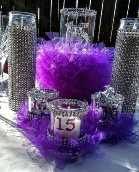 34 Centros de mesa con frascos para embellecer  tu fiesta 13