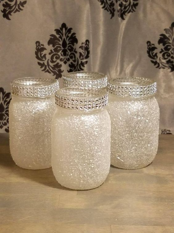 34 Centros de mesa con frascos para embellecer  tu fiesta 17