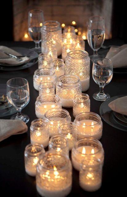 34 Centros de mesa con frascos para embellecer  tu fiesta 9