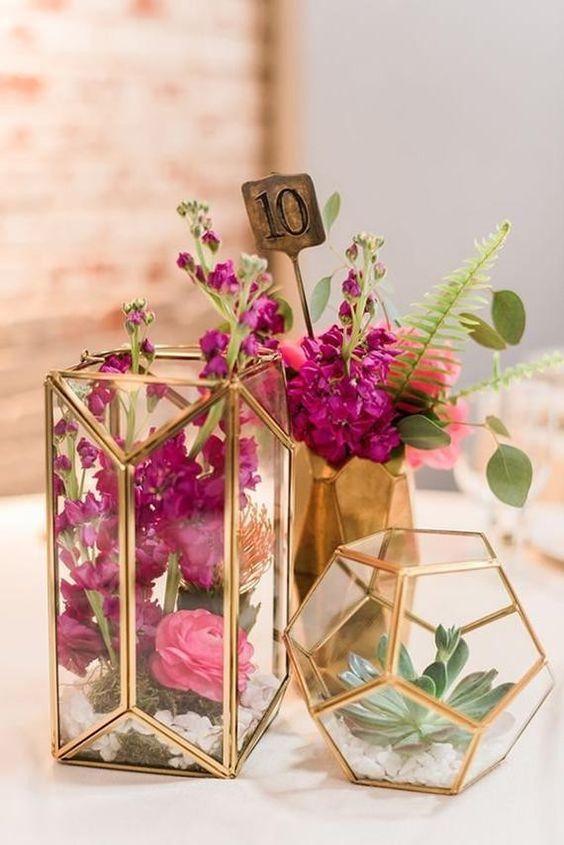 Centros de mesa con flores. Elegantes y exclusivos 4