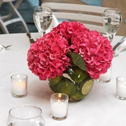 +25 Centros de Mesa con flores naturales que todos podemos hacer 20
