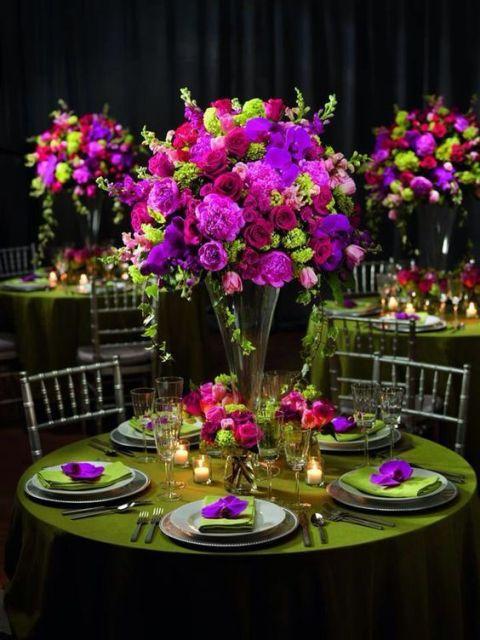 +25 Centros de Mesa con flores naturales que todos podemos hacer 21