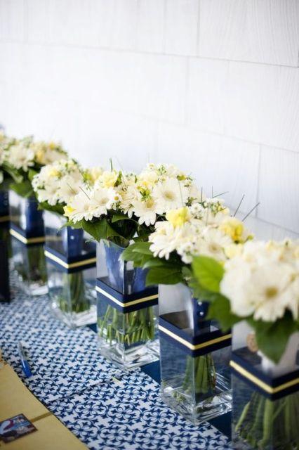 +25 Centros de Mesa con flores naturales que todos podemos hacer 7