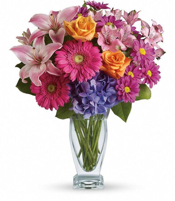 +25 Centros de Mesa con flores naturales que todos podemos hacer 11