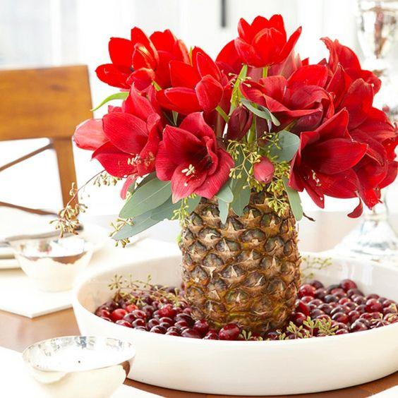 +25 Centros de Mesa con flores naturales que todos podemos hacer 25