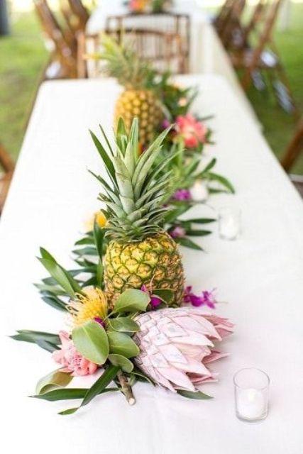 +25 Centros de Mesa con flores naturales que todos podemos hacer 26