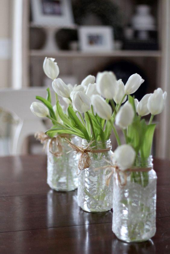 34 Centros de mesa con frascos para embellecer  tu fiesta 19