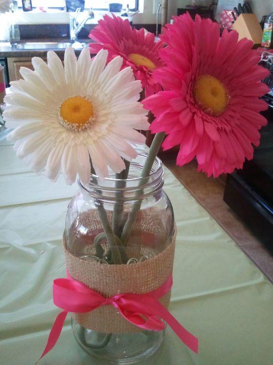 34 Centros de mesa con frascos para embellecer  tu fiesta 22