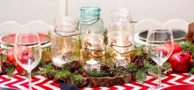 34 Centros de mesa con frascos para embellecer  tu fiesta 35