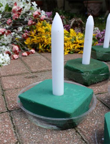 Centros de mesa con velas. Pura sencillez y elegancia 28