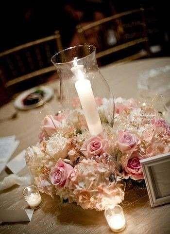 Centros de mesa con velas. Pura sencillez y elegancia 29