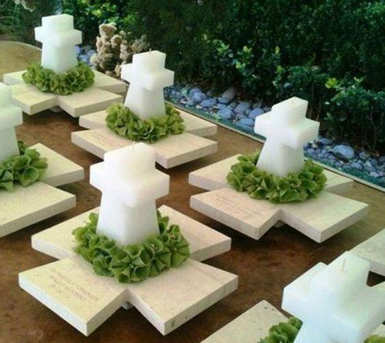 Centros de mesa con velas. Pura sencillez y elegancia 30