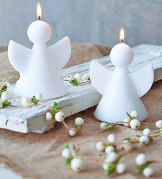 Centros de mesa con velas. Pura sencillez y elegancia 31
