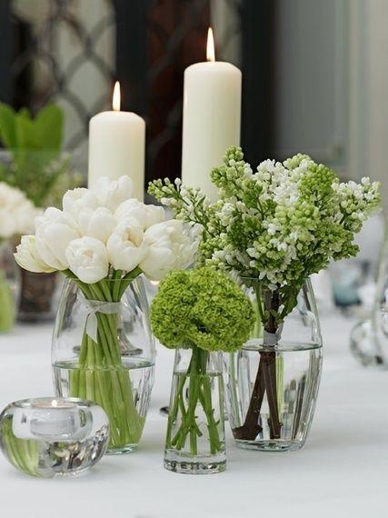 Centros de mesa con velas. Pura sencillez y elegancia 4