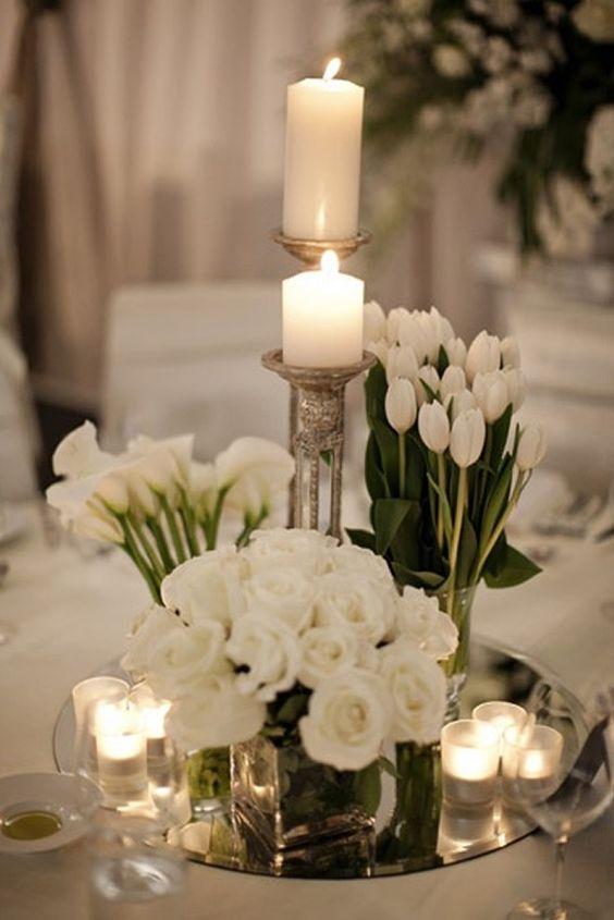 Centros de mesa con velas. Pura sencillez y elegancia 6