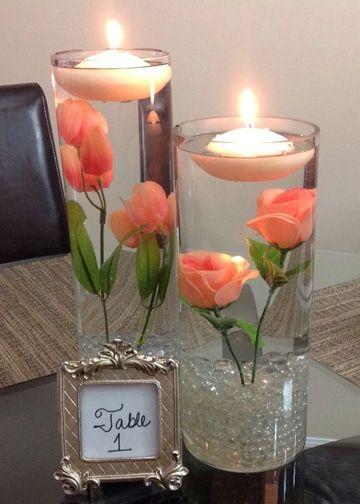 Centros de mesa con velas. Pura sencillez y elegancia 15