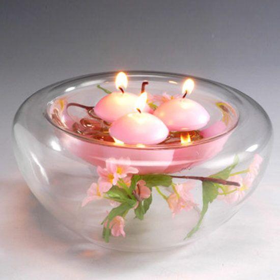Centros de mesa con velas. Pura sencillez y elegancia 16