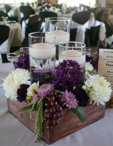 Centros de mesa con velas. Pura sencillez y elegancia 18